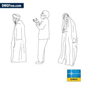 Iranian People DWG in AutoCAD