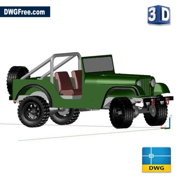 Jeep 3D dwg blocks drawing