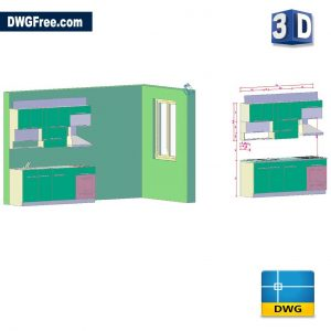 Kitchen 3D Drawings DWG in AutoCAD