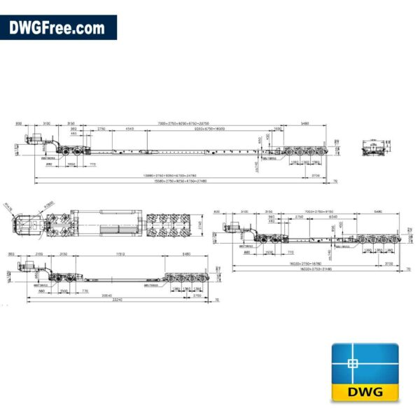 Nooteboom special trailers dwg drawing CAD