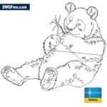 Panda-Autocad-dwg-drawing