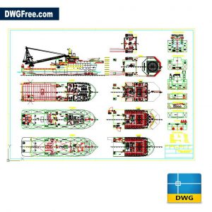 Rescue Boat AutoCAD DWG