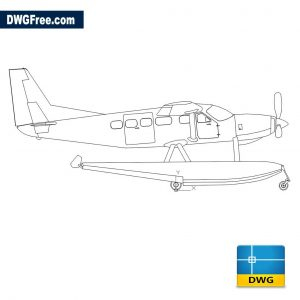 Seaplane DWG Drawing in CAD
