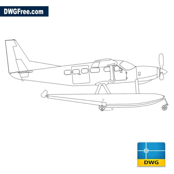 Seaplane-Dwg-drawing-autocad-2D