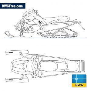 Snowmobile DWG
