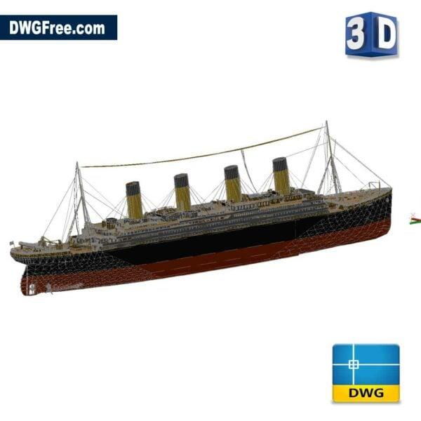 Titanic 3D Drawings