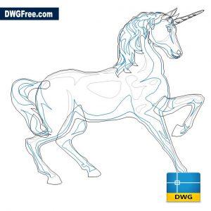 Unicorn Horse DWG