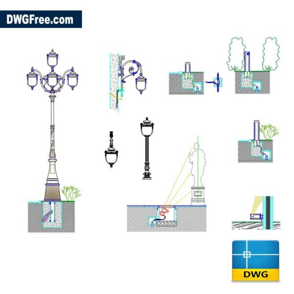 Urban Lighting Design DWG drawing in AutoCAD