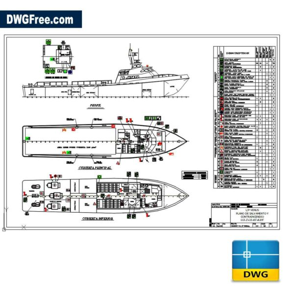 Venus Boat DWG drawing in CAD