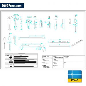 Work Tools for the House DWG in AutoCAD
