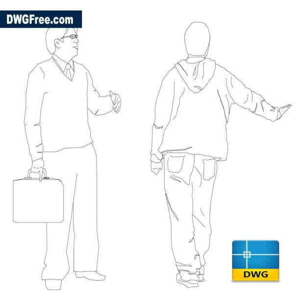 Two Men DWG in AutoCAD