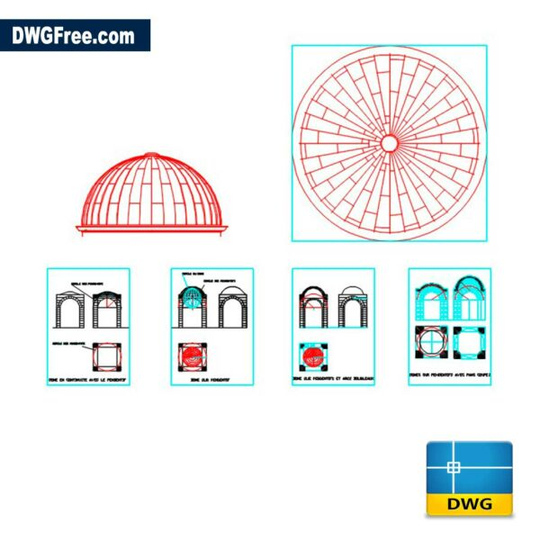 2D Drawings Dome DWG in AutoCAD