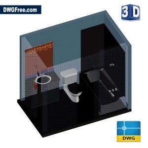 3D Bathroom DWG drawing in AutoCAD