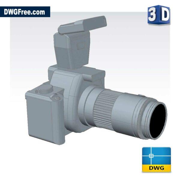 3D-Camera-dwg-cad-block