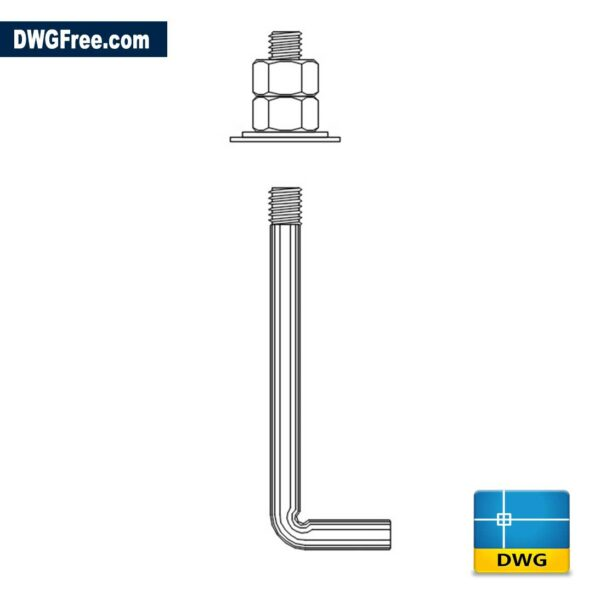 Anchor Bolt DWG drawing in CAD