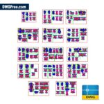 Architectural-details-of-various-bathrooms-dwg-blocks