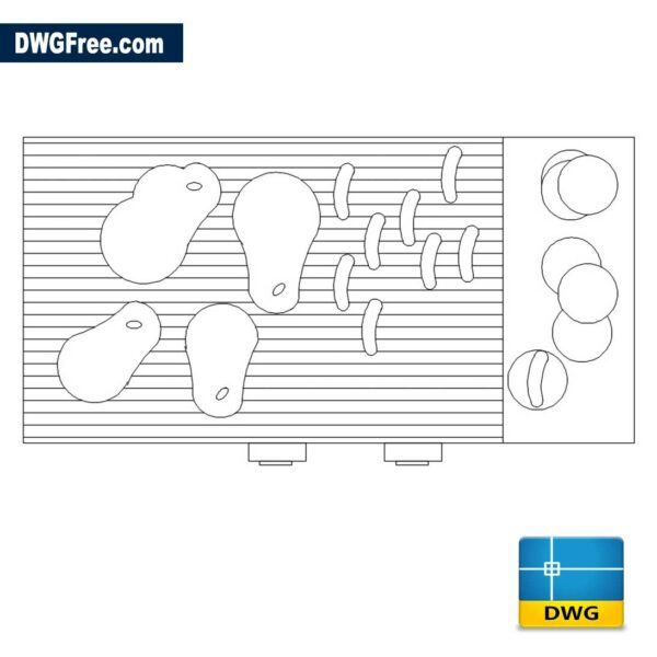 BBQ Plan Grill DWG drawing in CAD block
