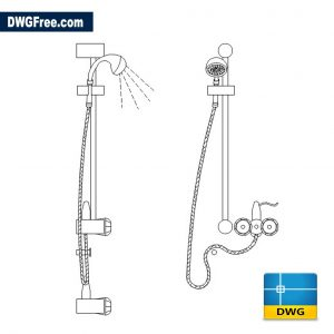 Bathroom Shower Unit DWG in CAD Blocks