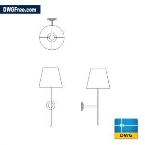 Bedroom Wall Lamp DWG drawing in AutoCAD
