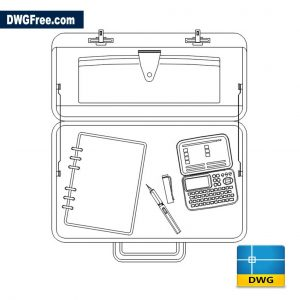 Briefcase DWG drawing 2D
