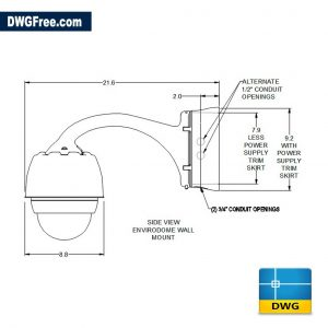 CCTV Street Camera DWG drawing in AutoCAD 2D