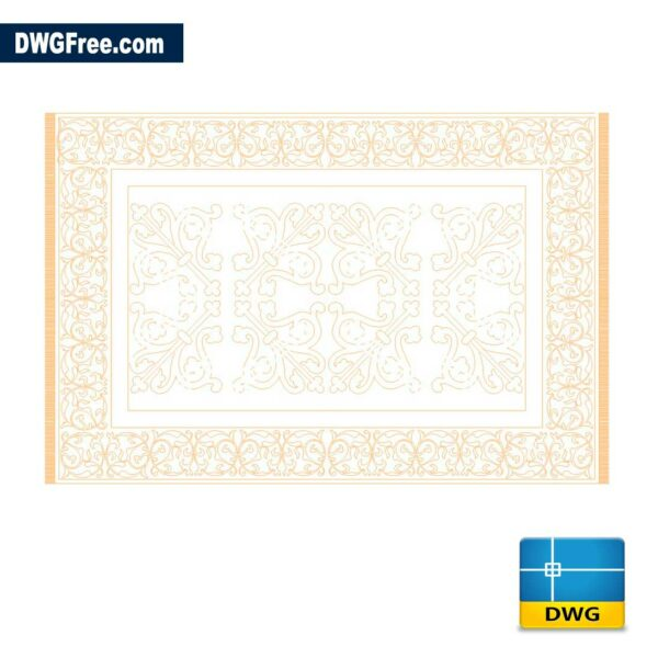 Carpet DWG Drawing in AutoCAD