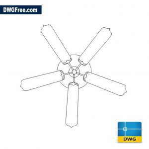 Ceiling Fan DWG drawing in AutoCAD