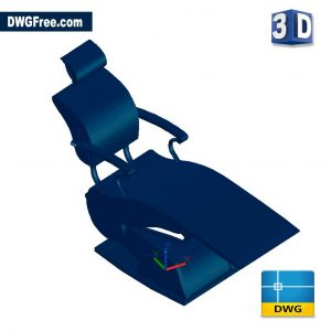 Dentist Chair 3D DWG drawing in AutoCAD