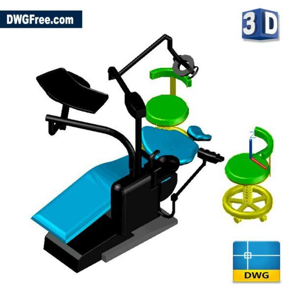 Dentist Dental Unit 3D DWG drawing in AutoCAD