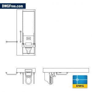 Disabled Toilet Arrangement DWG drawing CAD Blocks