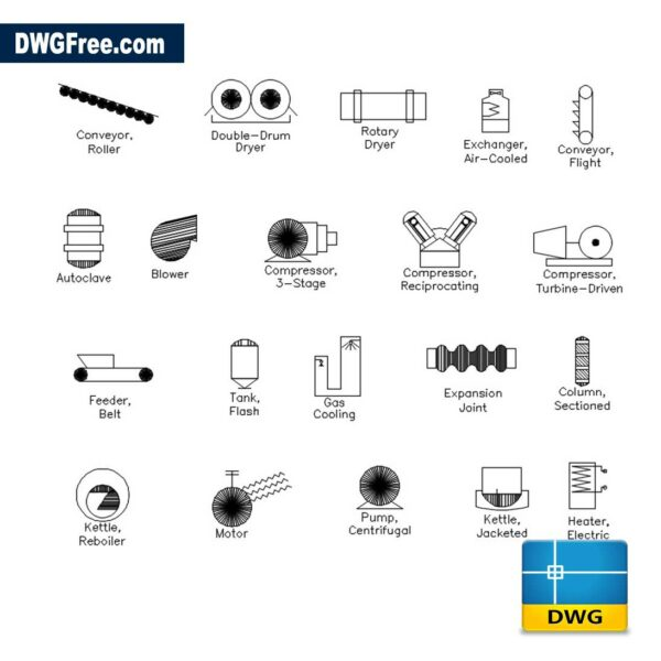 Factory Symbols CAD DWG drawing