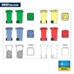 Garbage DWG CAD Blocks