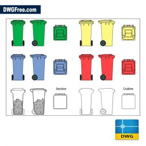 Garbage DWG CAD Blocks