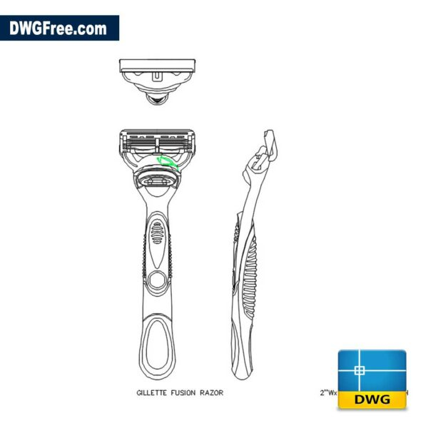Gillette Pro 2D DWG Drawing in AutoCAD