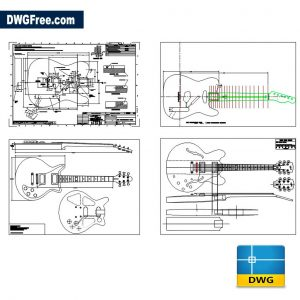 Guitar Details DWG drawing in AutoCAD