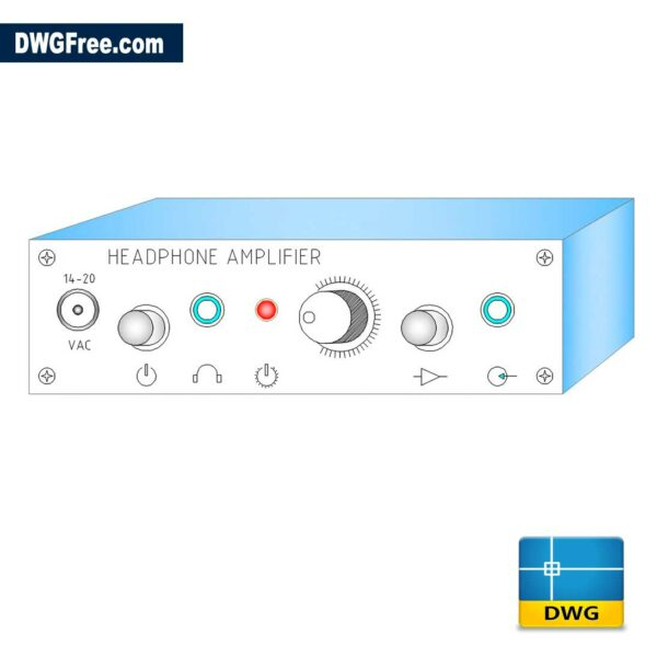 Headphone Amplifier DWG drawing in AutoCAD