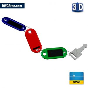 Keys 3D DWG drawing in AutoCAD