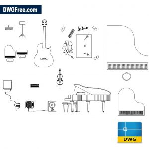 Music Equipment CAD DWG drawing in AutoCAD