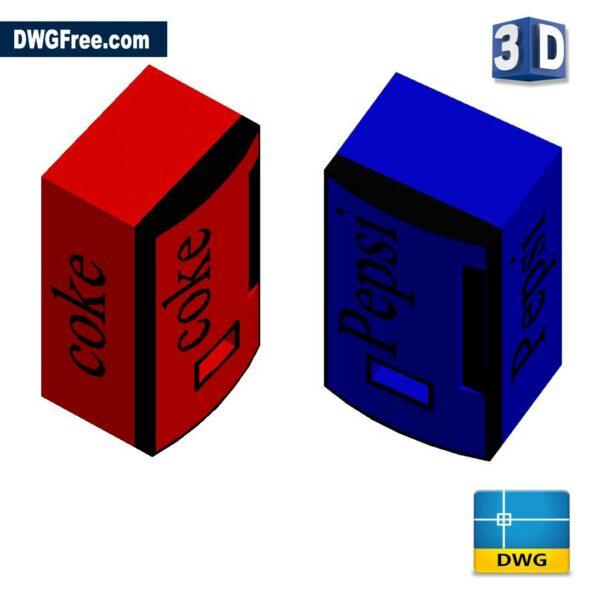 Pepsi-Coke-3D-Machine-dwg-cad-blocks