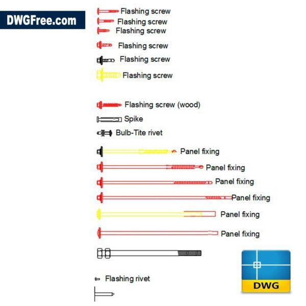Screws-2d-dwg-cad-blocks