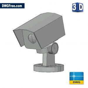 Security Camera 3D DWG drawing in AutoCAD