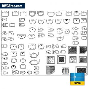 Standard Sanitary Equipment DWG drawing CAD Blocks