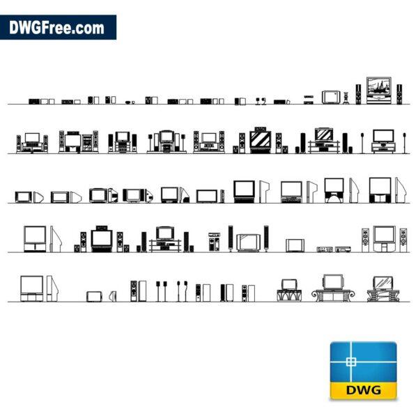 TV Units Cads Blocks