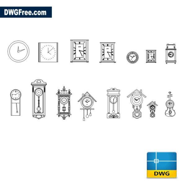 Wall-Clocks-Cad-blocks-dwg