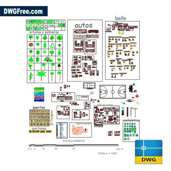 Blocks Bathroom Furniture DWG CAD Blocks