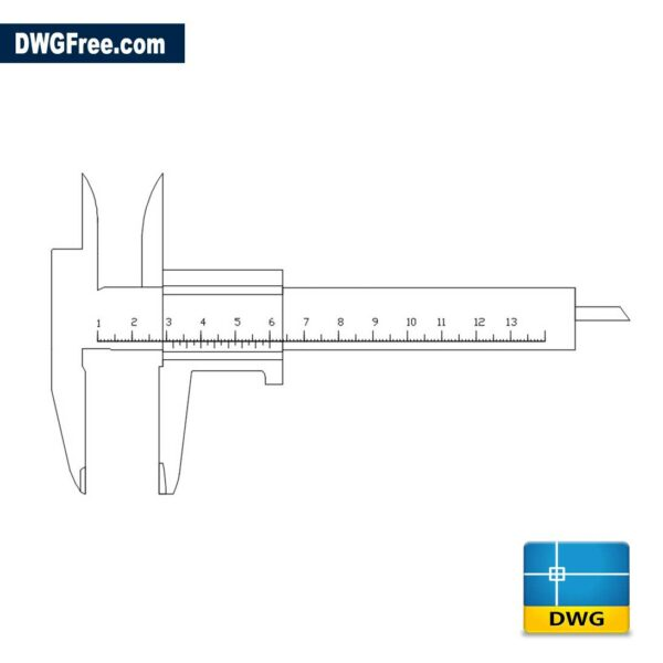Calipers DWG drawing in AutoCAD 2D