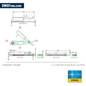 Razor Straight DWG drawing in AutoCAD