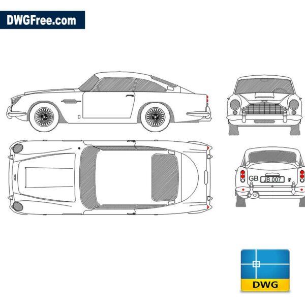 Aston Martin DWG CAD Block