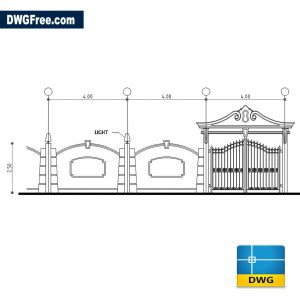 Boundary Wall Drawing in CAD DWG