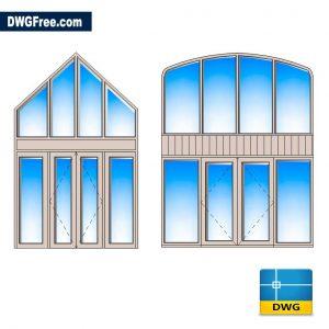 Door Window Glazing DWG in AutoCAD